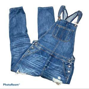 AE TomGirl overalls size medium distressed Denim